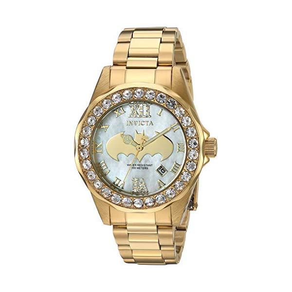 インビクタ INVICTA インヴィクタ 腕時計 ウォッチ 29304 バットマン DCコミックス レディース 女性用 Invicta Women's DC Comics Quartz Watch with Stainless-Steel Strap, Gold, 17 (Model: 29304)