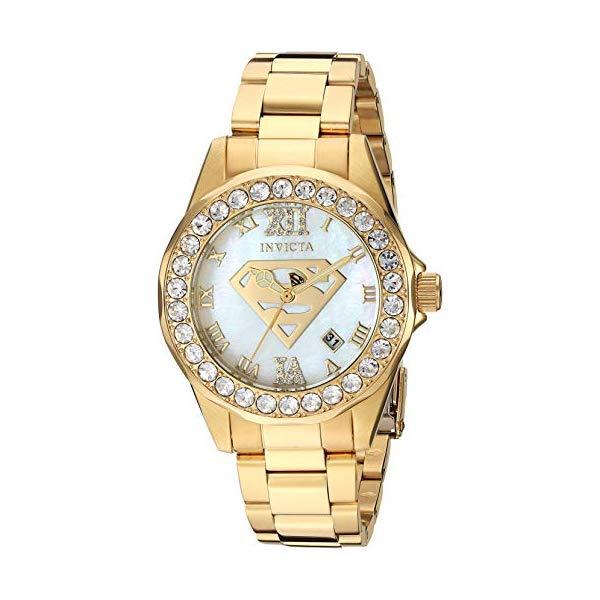 インビクタ 29307) INVICTA インヴィクタ 腕時計 ウォッチ 29307 17.8 スーパーマン DCコミックス 腕時計 レディース 女性用 Invicta Women's DC Comics Quartz Stainless-Steel Strap, Gold, 17.8 Casual Watch (Model: 29307), わがんせショップ:c9962244 --- ww.thecollagist.com