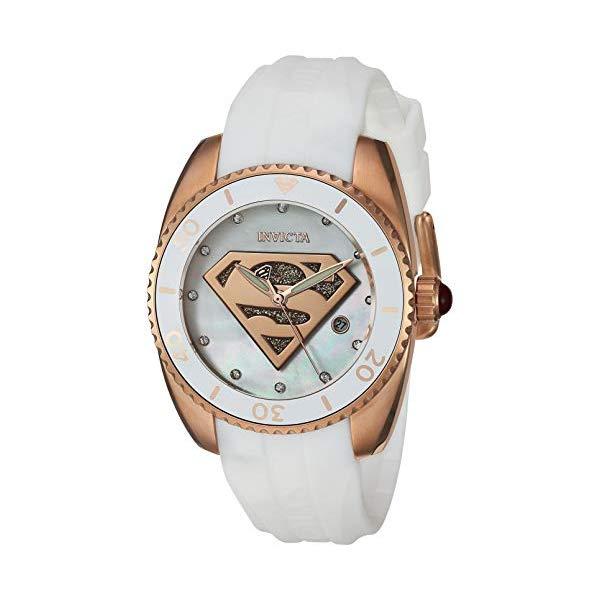 インビクタ INVICTA インヴィクタ 腕時計 ウォッチ 29298 スーパーマン DCコミックス レディース 女性用 Invicta Women's DC Comics Stainless Steel Quartz Watch with Silicone Strap, White, 19.7 (Model: 29298)