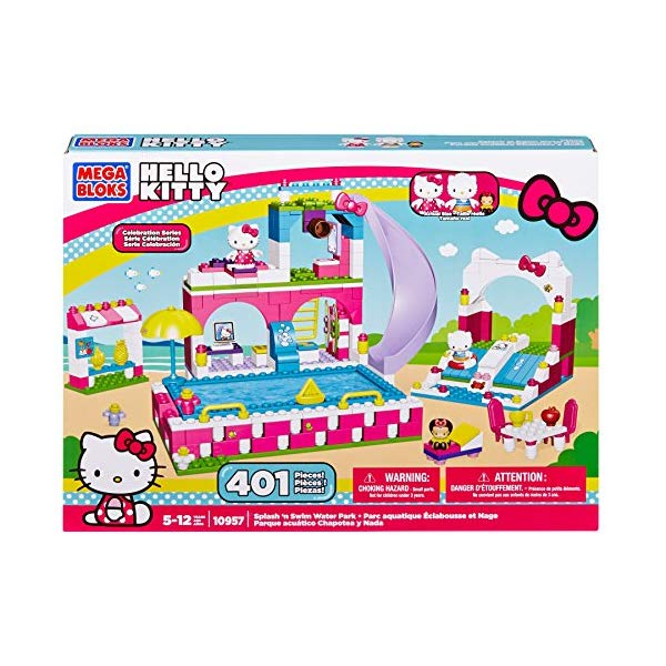 ハローキティ メガブロック プール スプラッシュ おもちゃ キティちゃん Mega Bloks Hello Kitty Splash N' Swim Water Park
