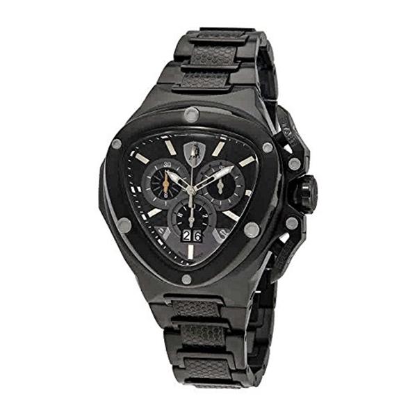 ランボルギーニ 腕時計 時計 Lamborghini Spyder Chronograph Black Dial Mens Watch 3106