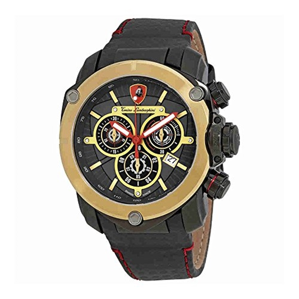 ランボルギーニ 腕時計 時計 Lamborghini Spyder 3200 Dark Grey Opaque Dial Mens Chronograph Watch 3204