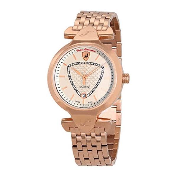 ランボルギーニ 腕時計 時計 Lamborghini Spyder 38 Ground Beige Dial Ladies Rose Gold Watch LR38-06