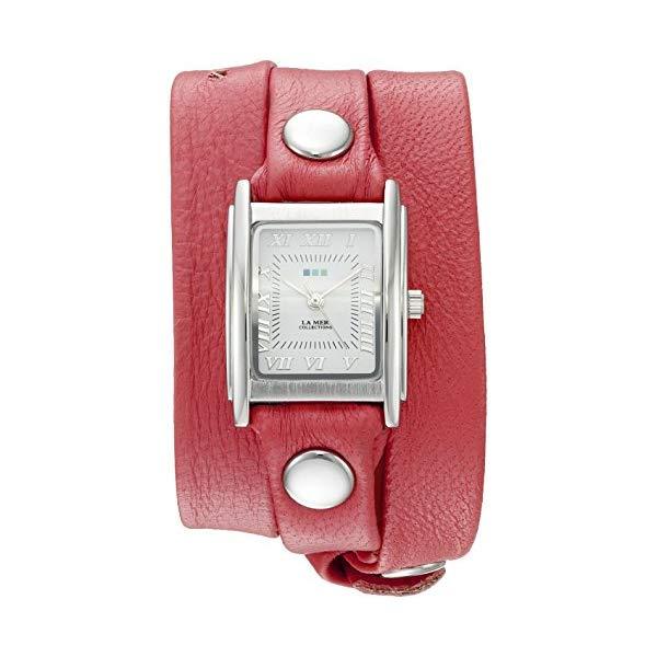 ラメール コレクションズ 腕時計 La Mer Collections LMSTWGMA14015 レディース ウォッチ 女性用 La Mer Collections Women's 'La Mer Collections Women's Coral Silver Triple Wrap Watch' Quartz Silver-Toned Leather Casual Watch (Model: LMSTWGMA14015)