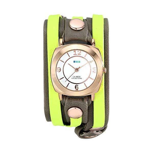 ラメール コレクションズ 腕時計 La Mer Collections LMDYLY1000 レディース ウォッチ 女性用 La Mer Collections Women's LMDYLY1000 Neon Odyssey Layer Watch with Cement Wash and Neon Cuff