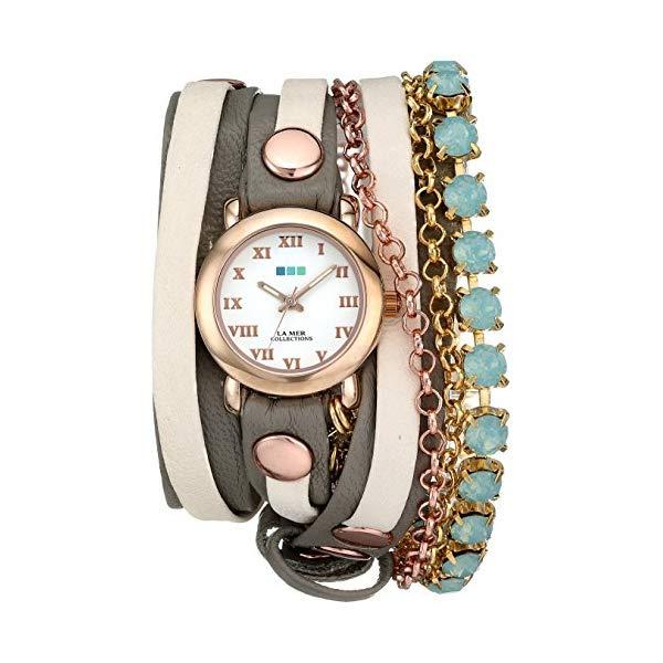 ラメール コレクションズ 腕時計 La Mer Collections LMMULTI5002 レディース ウォッチ 女性用 La Mer Collections Women's LMMULTI5002 St. Tropez Rose Gold-Tone Wrap Bracelet Watch