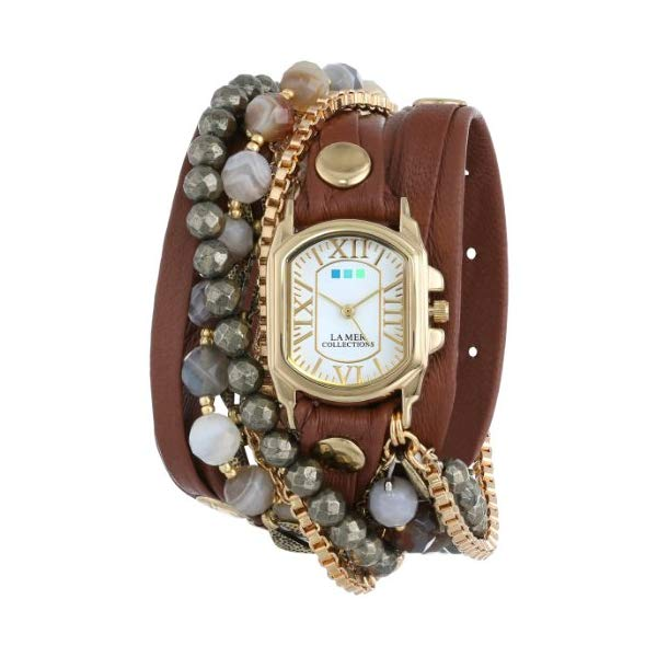ラメール コレクションズ 腕時計 La Mer Collections LMMULTI2011 レディース ウォッチ 女性用 La Mer Collections Women's LMMULTI2011 Positano Cognac Leather Wrap Band Watch