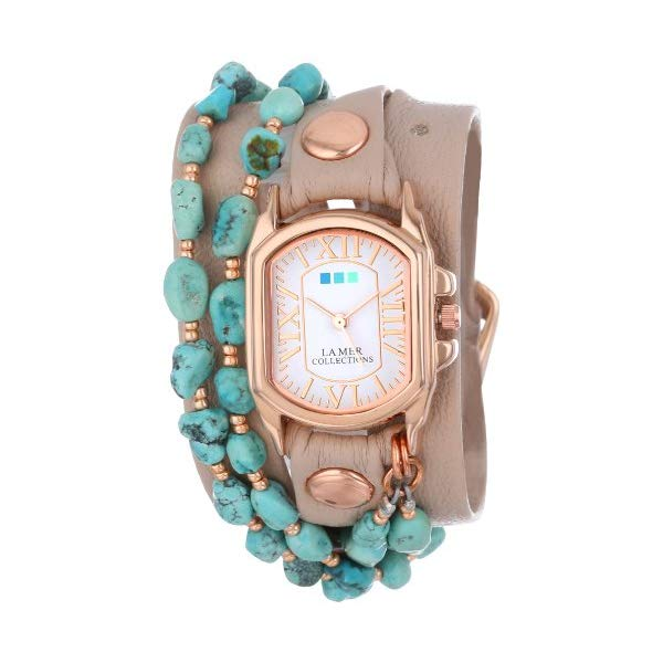 ラメール コレクションズ 腕時計 La Mer Collections LMMULTI1003 レディース ウォッチ 女性用 La Mer Collection's Women's LMMULTI1003 Natural Turquoise Wrap Watch