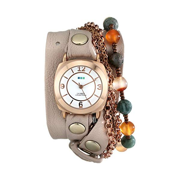 ラメール コレクションズ 腕時計 La Mer Collections LMMULTI2000 レディース ウォッチ 女性用 La Mer Collections Women's LMMULTI2000 Brazil Stones Chain Wrap Watch