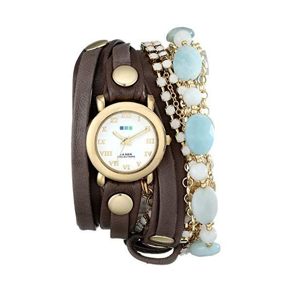 ラメール コレクションズ 腕時計 La Mer Collections LMMULTI7005 レディース ウォッチ 女性用 La Mer Collections Women's LMMULTI7005 Venetian Stones Multichain Leather Wrap Watch