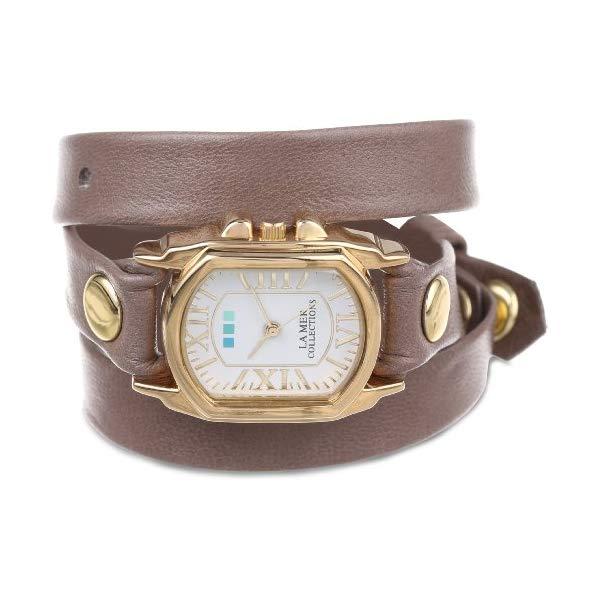 ラメール コレクションズ 腕時計 La Mer Collections LMCHATEAU1003 レディース ウォッチ 女性用 La Mer Collections Women's LMCHATEAU1003 Mushroom Gold Chateau Wrap Watch