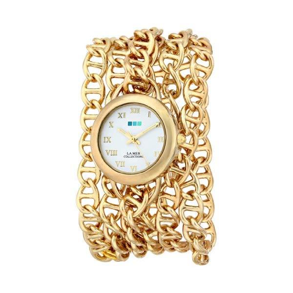 ラメール コレクションズ 腕時計 La Mer Collections LMACWSAT001 レディース ウォッチ 女性用 La Mer Collections Women's LMACWSAT001 Gold-Tone Chain-Link Wrap Watch