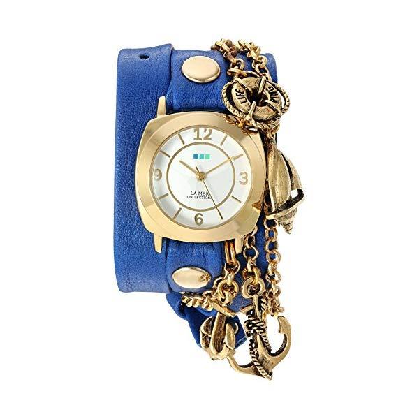 ラメール コレクションズ 腕時計 La Mer Collections LMCW2016362 レディース ウォッチ 女性用 La Mer Collections Women's 'Nautical Charms' Quartz Gold-Tone and Leather Watch, Color:Blue (Model: LMCW2016362)