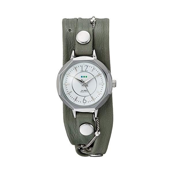 ラメール コレクションズ 腕時計 La Mer Collections LMDELMAR2016051 レディース ウォッチ 女性用 La Mer Collections Women's Japanese-Quartz Watch with Leather-Calfskin Strap, Green, 8 (Model: LMDELMAR2016051
