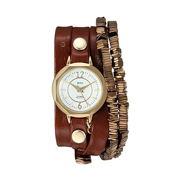 ラメール コレクションズ 腕時計 La Mer Collections LMDEL1010 レディース ウォッチ 女性用 La Mer Collections Women's Quartz Gold-Tone and Leather Watch, Color:Brown (Model: LMDEL1010)