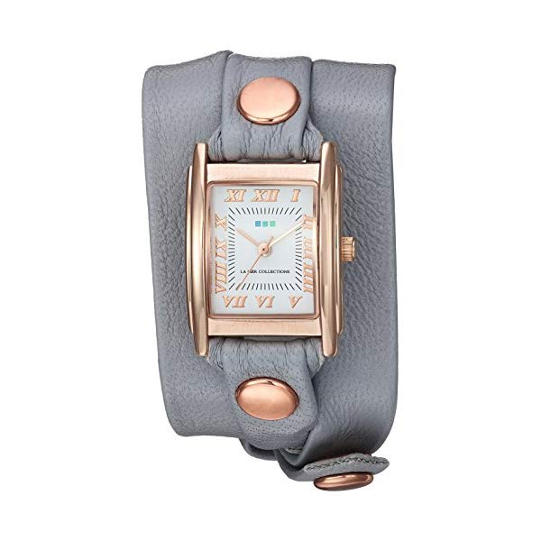 ラメール コレクションズ 腕時計 La Mer Collections LMSTW3003 レディース ウォッチ 女性用 La Mer Collections Women's Japanese-Quartz Watch with Leather Calfskin Strap, Grey, 7.9 (Model: LMSTW3003)