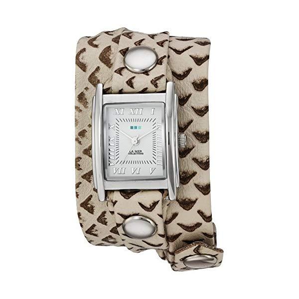 ラメール コレクションズ 腕時計 La Mer Collections LMSTW7003 レディース ウォッチ 女性用 La Mer Collections Women's LMSTW7003 Stainless Steel Watch with Metallic-Patterned Wraparound Band