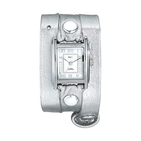 ラメール コレクションズ 腕時計 La Mer Collections LMMTW1002 レディース ウォッチ 女性用 La Mer Collections Women's LMMTW1002 Silver-Tone Watch With Metallic Leather Wraparound Band