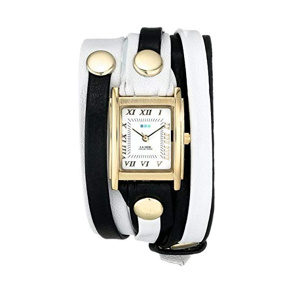 ラメール コレクションズ 腕時計 La Mer Collections LMLWMIX002 レディース ウォッチ 女性用 La Mer Collections Women's LMLWMIX002 White Black Mix Layer Bracelet Wrap Watch