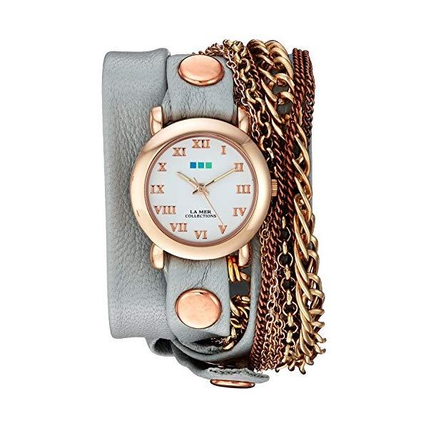 ラメール コレクションズ 腕時計 La Mer Collections LMMULTI4000-GLCREY レディース ウォッチ 女性用 La Mer Collections Women's LMMULTI4000-GLCREY Analog Display Japanese Quartz Grey Watch