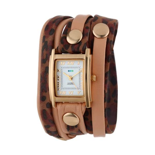 ラメール コレクションズ 腕時計 La Mer Collections LMLWMIX1000 レディース ウォッチ 女性用 La Mer Collection's Women's LMLWMIX1000 Indian Leopard-Coppertone Mix Up Layer Wrap Watch