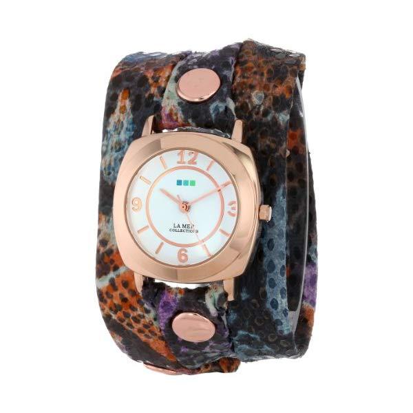 ラメール コレクションズ 腕時計 La Mer Collections LMODY5000 レディース ウォッチ 女性用 La Mer Collection's Women's LMODY5000 Purple Butterfly Print Wrap Watch