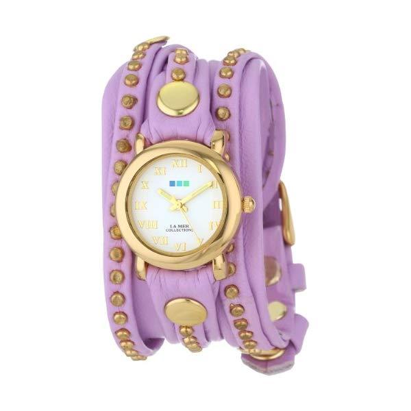 ラメール コレクションズ 腕時計 La Mer Collections LMSW7001 レディース ウォッチ 女性用 La Mer Collections Women's LMSW7001 Lavender Gold Bali Stud Wrap Watch