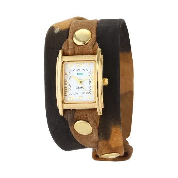 ラメール コレクションズ 腕時計 La Mer Collections LMSTW3015 レディース ウォッチ 女性用 La Mer Collections Women's LMSTW3015 Shades of Brown Tie-Dye Print Leather Wrap Watch