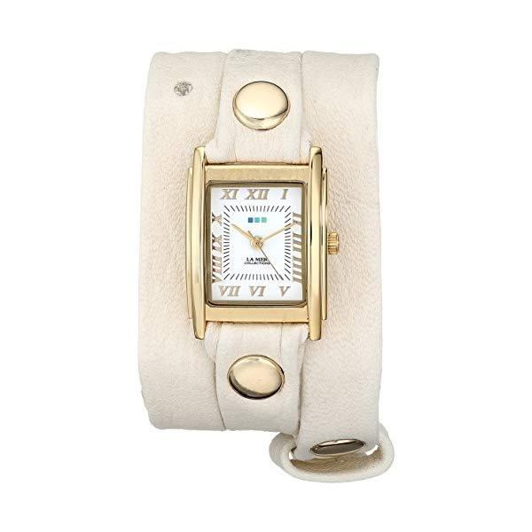 ラメール コレクションズ 腕時計 La Mer Collections LMSTW3011 レディース ウォッチ 女性用 La Mer Collections Women's LMSTW3011 Washed Cream Puff Gold Simple Wrap Watch