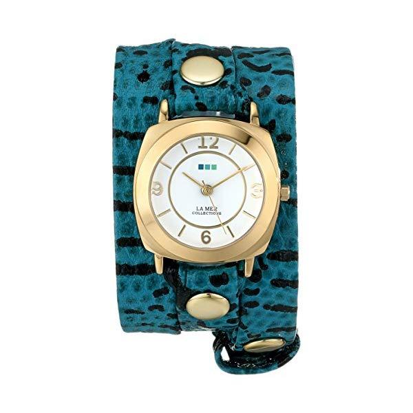 ラメール コレクションズ 腕時計 La Mer Collections LMODY4002 レディース ウォッチ 女性用 La Mer Collections Women's LMODY4002 Aqua Blue Snake Odyssey Wrap Watch