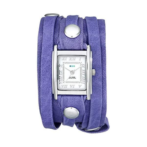 ラメール コレクションズ 腕時計 La Mer Collections LMLW3002 レディース ウォッチ 女性用 La Mer Collections Women's LMLW3002 Layered Washed Violet Wrap Watch