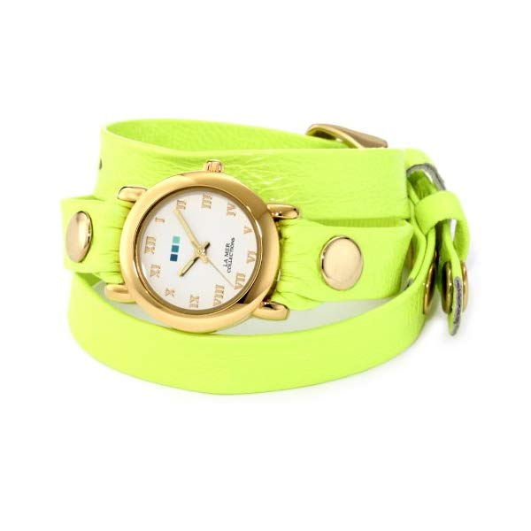 ラメール コレクションズ 腕時計 La Mer Collections LAMERNEON_3GOLDCIR レディース ウォッチ 女性用 La Mer Collections Women's LAMERNEON_3GOLDCIR Neon Yellow/Gold Circle Simple Watch
