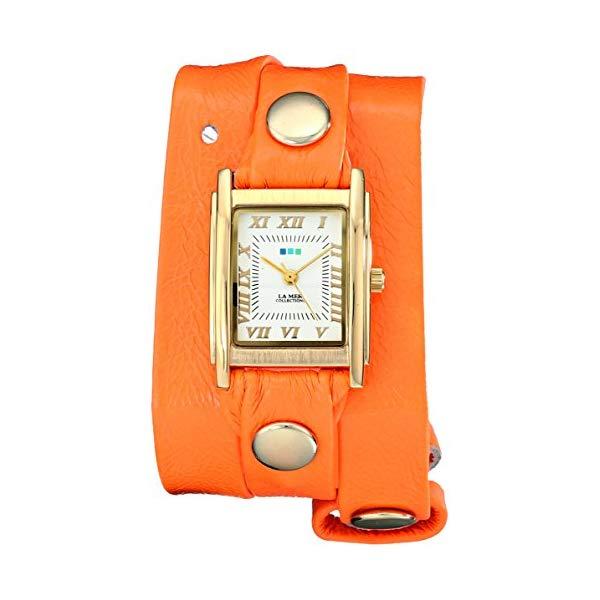 ラメール コレクションズ 腕時計 La Mer Collections LAMERNEON_2GOLDSQ レディース ウォッチ 女性用 La Mer Collections Women's LAMERNEON_2GOLDSQ Neon Orange/Gold Square Simple Watch