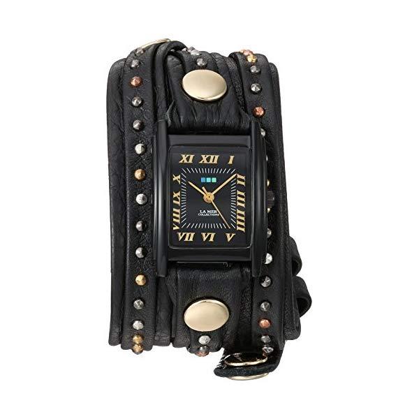 ラメール コレクションズ 腕時計 La Mer Collections LMSW9052 レディース ウォッチ 女性用 La Mer Collections Women's Japanese-Quartz Watch with Leather Calfskin Strap, Black, 12.7 (Model: LMSW9052)