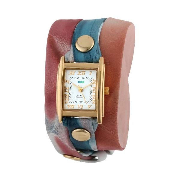 ラメール コレクションズ 腕時計 La Mer Collections LMSTW3009 レディース ウォッチ 女性用 La Mer Collection's Women's LMSTW3009 Malibu Red Tie Dye Wrap Watch