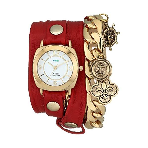 ラメール コレクションズ 腕時計 La Mer Collections LMCW2004 レディース ウォッチ 女性用 La Mer Collections Women's LMCW2004 Red Nautical Charms Wrap Watch