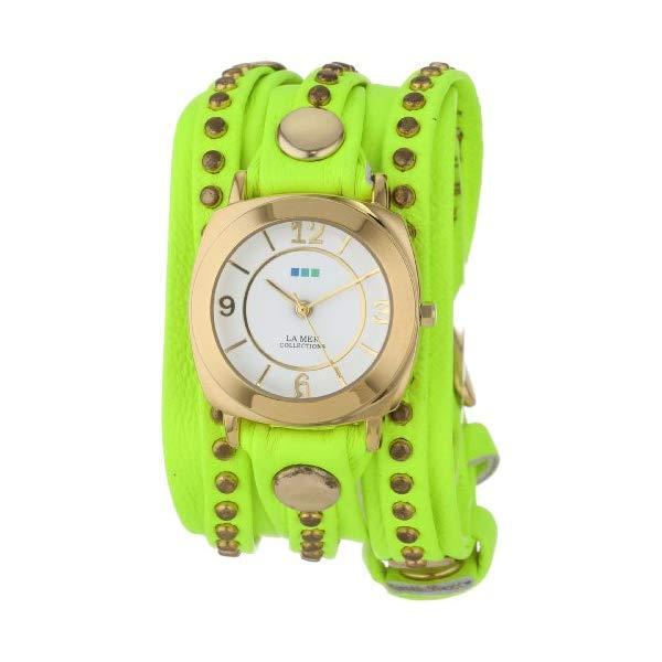 ラメール コレクションズ 腕時計 La Mer Collections LMSWODY1001 レディース ウォッチ 女性用 La Mer Collections Women's LMSWODY1001 Neon Yellow Gold Odyssey Bali Wrap Watch