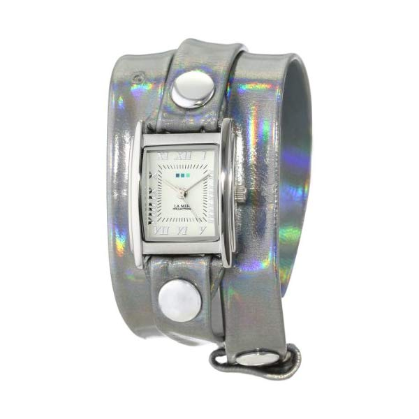 ラメール コレクションズ 腕時計 La Mer Collections LMSTW3014 レディース ウォッチ 女性用 La Mer Collections Women's LMSTW3014 Stainless Steel Watch with Silver Leather Wrap-Around Band