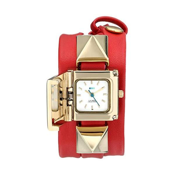 ラメール コレクションズ 腕時計 La Mer Collections LMPYRAMID005 レディース ウォッチ 女性用 La Mer Collections Women's LMPYRAMID005 Cairo Red Gold Pyramid Wrap Watch