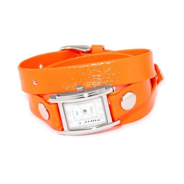 ラメール コレクションズ 腕時計 La Mer Collections LAMERNEON_2 レディース ウォッチ 女性用 La Mer Collections Women's LAMERNEON_2 Neon Orange/Silver Square Simple Watch