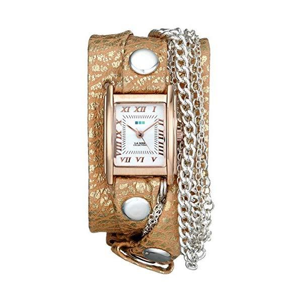 ラメール コレクションズ 腕時計 La Mer Collections LMMULTI4001 レディース ウォッチ 女性用 La Mer Collections Women's LMMULTI4001 Ivory Frost Multichain Wrap Watch