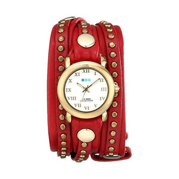 ラメール コレクションズ 腕時計 La Mer Collections LMSW3005 レディース ウォッチ 女性用 La Mer Collections Women's LMSW3005 Red Gold Bali Stud Wrap Watch