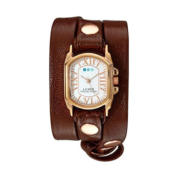 ラメール コレクションズ 腕時計 La Mer Collections LMCHATEAU1008 レディース ウォッチ 女性用 La Mer Collections Women's LMCHATEAU1008 Analog Display Japanese Quartz Brown Watch