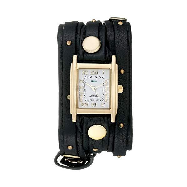 ラメール コレクションズ 腕時計 La Mer Collections LMSW1001 レディース ウォッチ 女性用 La Mer Collections Women's LMSW1001 Black Gold Stud Analog Display Quartz Black Watch