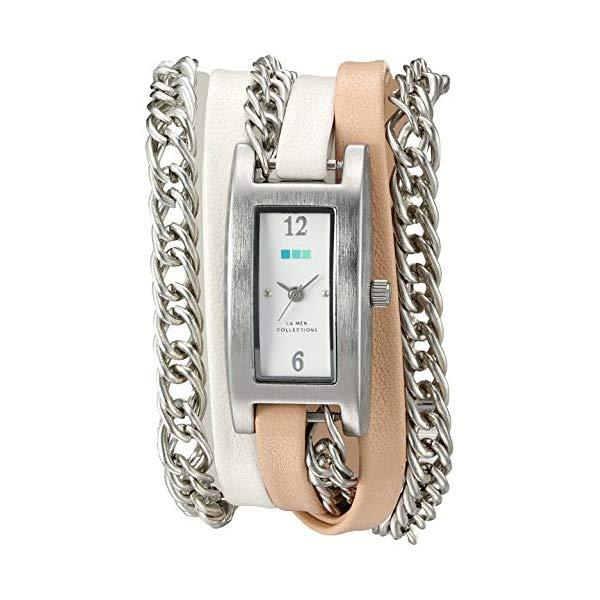 ラメール コレクションズ 腕時計 La Mer Collections LMPALERMO1003 レディース ウォッチ 女性用 La Mer Collections Women's Quartz Silver-Tone and Leather Watch, Multi Color (Model: LMPALERMO1003)