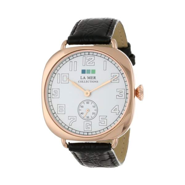 ラメール コレクションズ 腕時計 La Mer Collections LMMOVW2047 レディース ウォッチ 女性用 La Mer Collections Women's LMMOVW2047 Black Rose Oversized Vintage Watch
