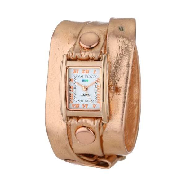 ラメール コレクションズ 腕時計 La Mer Collections LMSTW3013 レディース ウォッチ 女性用 La Mer Collections Women's LMSTW3013 Stainless Steel Watch with Metallic-Leather Wraparound Band