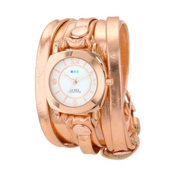ラメール コレクションズ 腕時計 La Mer Collections LMODYLY2000 レディース ウォッチ 女性用 La Mer Collections Women's LMODYLY2000 Rose-Tone Watch with Metallic Leather Wraparound Band