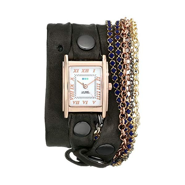 ラメール コレクションズ 腕時計 La Mer Collections LMMULTI8003 レディース ウォッチ 女性用 La Mer Collections Women's LMMULTI8003 Rose Gold-Plated Watch with Brown Leather Wraparound Band