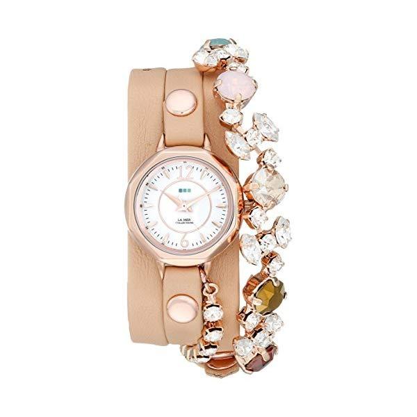 ラメール コレクションズ 腕時計 La Mer Collections LMDELCRY1505 レディース ウォッチ 女性用 La Mer Collections Women's LMDELCRY1505 Portugal Crystal Coppertone Analog Display Quartz Champagne Watch